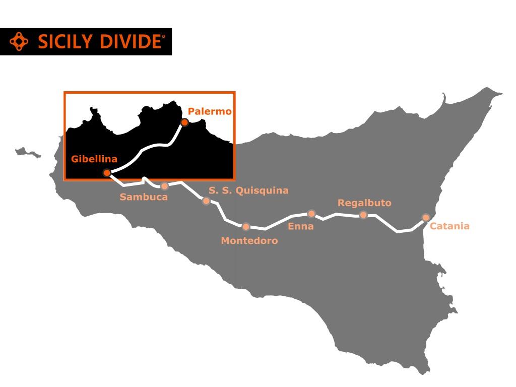 bike hotels sicily divide tappa 1 variante Palermo