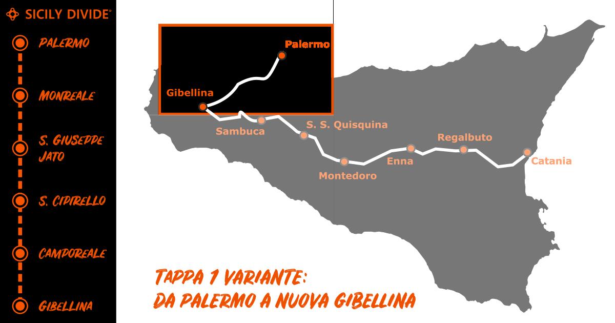 Sicily Divide Tappa 1 variante - da Palermo a Nuova Gibellina in bici