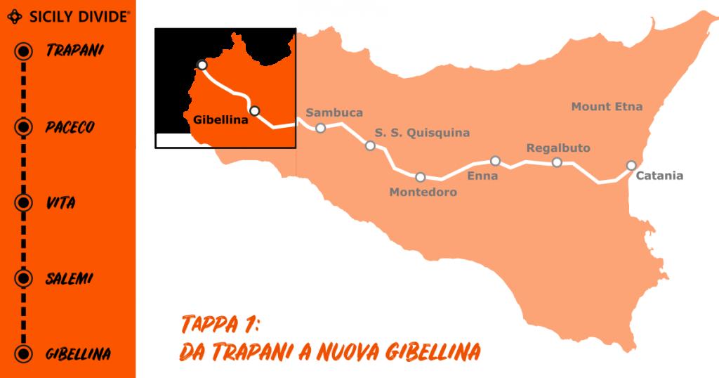 Sicily Divide Tappa 1 - da Trapani a Nuova Gibellina in bici