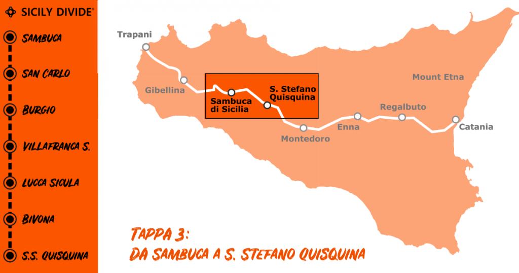 Sicily Divide Tappa 3 - da Sambuca di Sicilia a Santo Stefano Quisquina in bici