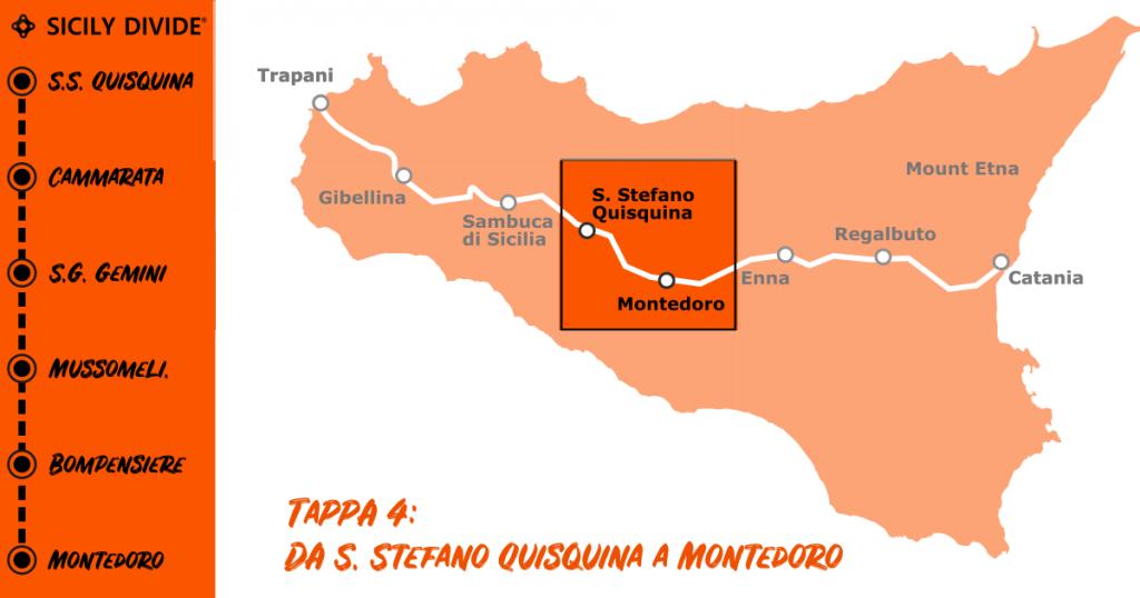 Sicily Divide Tappa 4 - da Santo Stefano Quisquina a Montedoro in bici