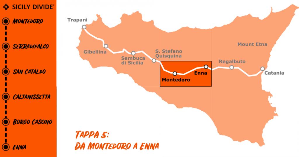 Sicily Divide Tappa 5 - da Montedoro a Enna in bici