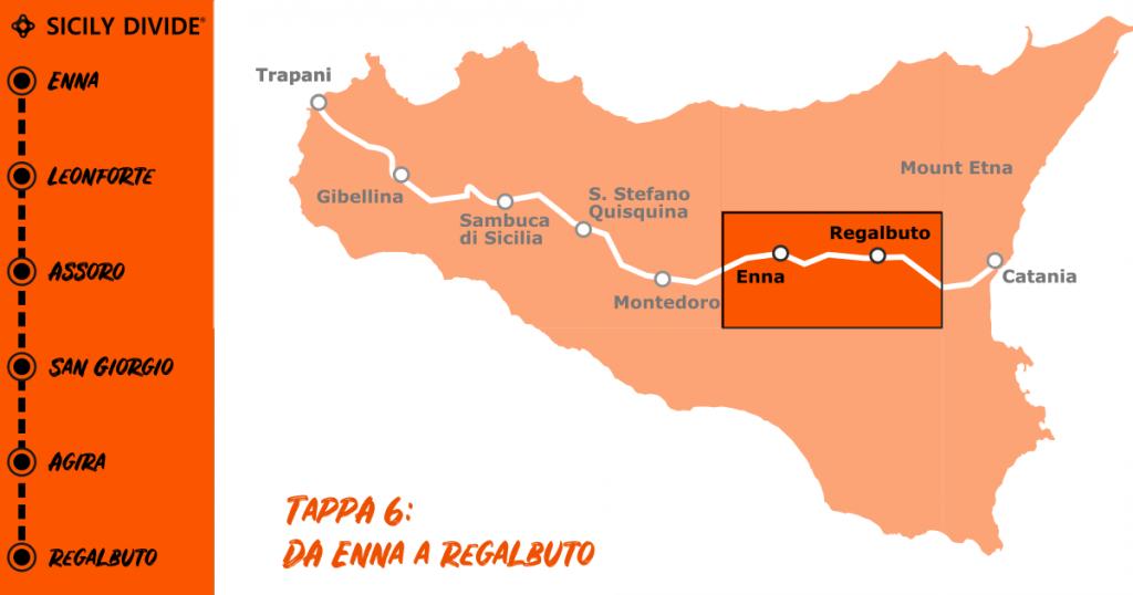 Sicily Divide Tappa 6 - da Enna a Regalbuto in bici