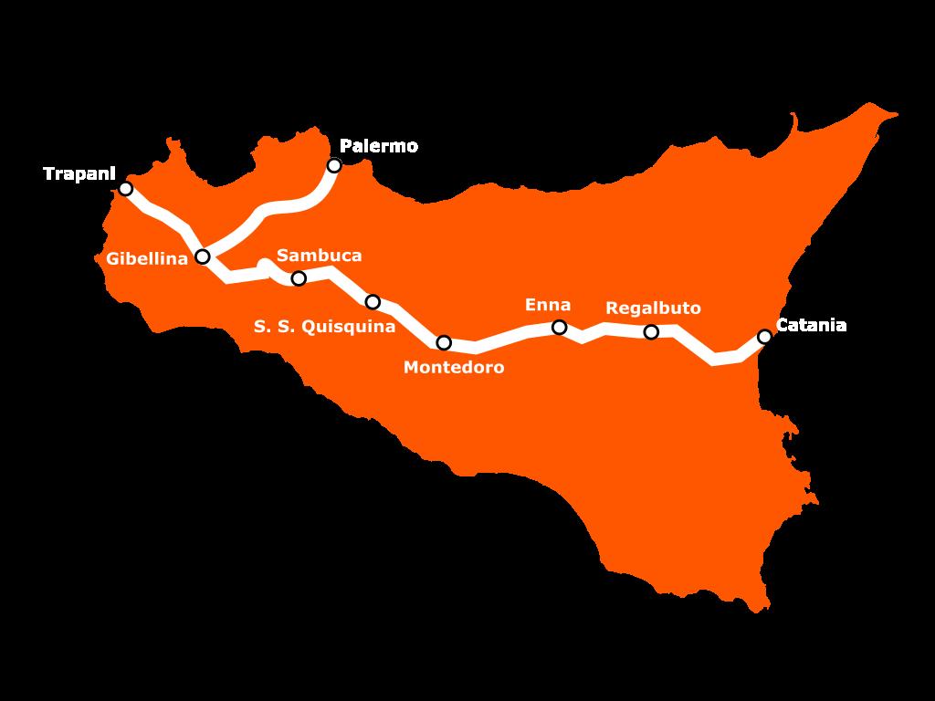 Mappa della Sicily Divide